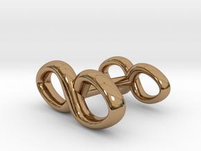 Infinity Symbol Cufflink in Polished Brass