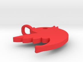 Bird Necklace in Red Processed Versatile Plastic