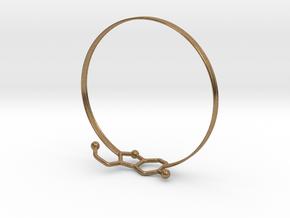 Serotonin Bracelet 65 Mm Embossed in Natural Brass