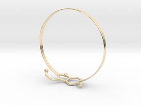 Serotonin Bracelet 65 Mm Embossed in 14k Gold Plated Brass