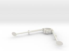 Old School Bipod in White Natural Versatile Plastic