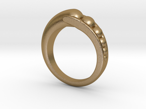 Transition Ring Szie 7 in Polished Gold Steel