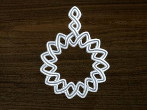 Woven Pendant in Polished Bronzed Silver Steel