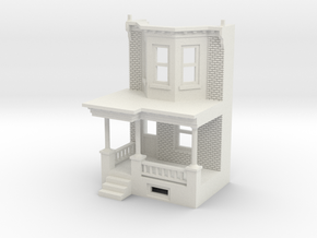 WEST PHILLY 2S ROW HOME 160 Brick LD FRONT END in White Natural Versatile Plastic