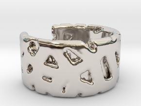 Bracelet Ø69 mm/Ø 2.71 inch in Rhodium Plated Brass