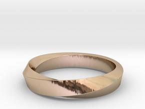 Mobius Ring Narrow Ring(Size 8) in 14k Rose Gold