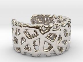 Bracelet Ø69 mm/Ø 2.71 inch in Platinum
