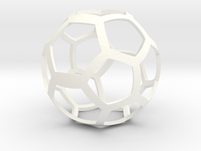 Elastoplastic Ball in White Processed Versatile Plastic