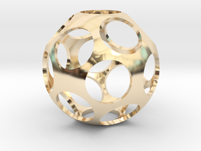 Ball Shaped Pendant in 14k Gold Plated Brass