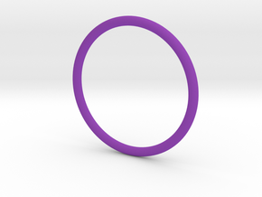 Jewellery - 1mm wire ring band in Purple Processed Versatile Plastic