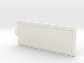 Custom Key Holder in White Processed Versatile Plastic