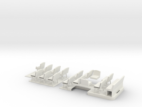 1:43 T Class Bus Floor & Seats in White Strong & Flexible