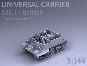 Universal Carrier Mk.I - (1:144) in Smooth Fine Detail Plastic