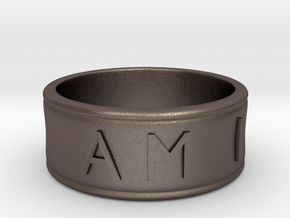 I AM | AM I Ring - size 8 in Polished Bronzed Silver Steel