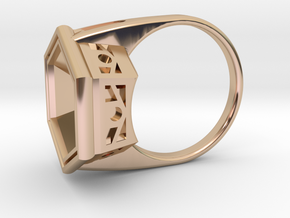 Deco V2 Size 5 in 14k Rose Gold Plated Brass