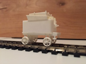 Mt. Washington Cog Rwy Tender with Feedwater Pump in Smooth Fine Detail Plastic