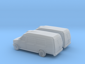 1/148 2X 1997-02 Ford Econoline  Camper in Frosted Ultra Detail