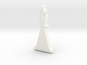 Bishop in White Processed Versatile Plastic