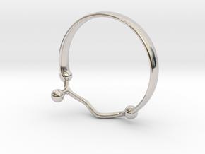 GABA ring Size 6  in Rhodium Plated Brass