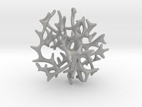 3-dimensional Coral Pendant in Aluminum