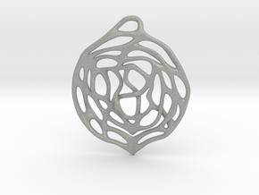 Concentric Circles Pendant in Aluminum