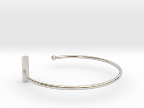 Fine Bracelet Ø 63 Mm/2.48 inch R Medium in Rhodium Plated Brass