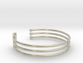 Tripple Bracelet Ø 63 Mm/2.48 inch R Medium in 14k White Gold