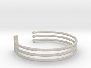 Tripple Bracelet Ø 63 Mm/2.48 inch R Medium in Natural Sandstone
