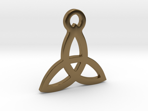 Triquetra Pendant (Triad) in Polished Bronze