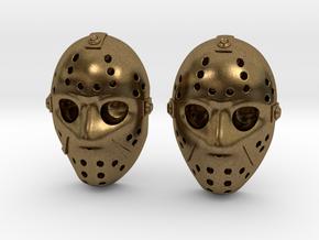 Jason Voorhees Mask lacelocks in Natural Bronze