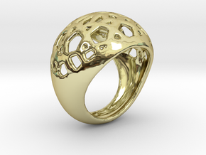 Jali Ring in 18k Gold Plated Brass