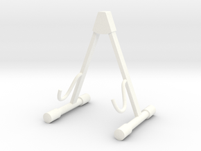 Guitar Stand, Scale 1:6 in White Processed Versatile Plastic