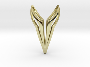 YOUNICAT Pendant, Soft. in 18k Gold Plated Brass