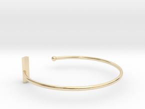 Fine Bracelet Ø 68 mm/2.677 inch R Large in 14k Gold Plated Brass