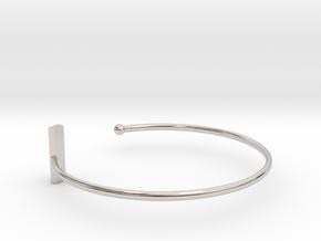 Fine Bracelet Ø 68 mm/2.677 inch R Large in Rhodium Plated Brass