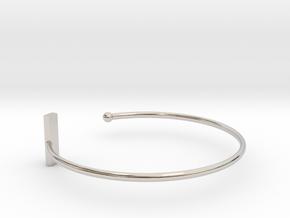 Fine Bracelet Ø 58 mm/2.283 inch R Small in Rhodium Plated Brass