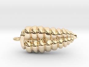 Rattlesnake Rattle Pendant/Earring in 14k Gold Plated Brass