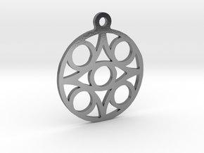 Five. - Tribute to the Philosophy of Number in Polished Silver
