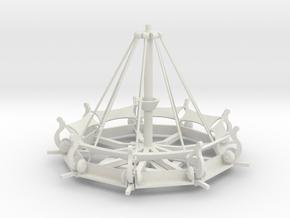 Mittelalter Schwungradkarussell - 1:87 (H0 scale) in White Natural Versatile Plastic