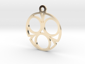 Three. - Tribute to the Philosophy of Number in 14K Yellow Gold