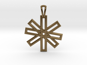 Sacred Geometry Pendant (Small) in Polished Bronze