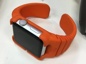 Apple Watch - 42mm LARGE Band in Orange Strong & Flexible Polished
