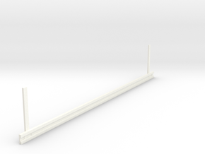 Guardrail (Leitplanke) in White Processed Versatile Plastic