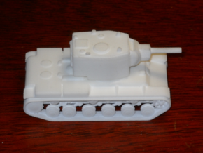 1/100 KV-2 Turret, 152 mm Howitzer in White Strong & Flexible