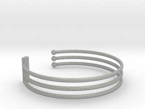 Tripple Bracelet Ø 58 mm/2.283 inch Small in Aluminum