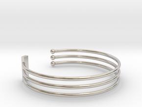 Tripple Bracelet Ø 58 mm/2.283 inch Small in Platinum