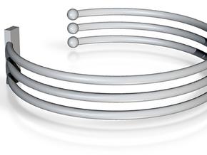 Tripple Bracelet Ø 68 mm/2.677 inch Large in Blue Processed Versatile Plastic