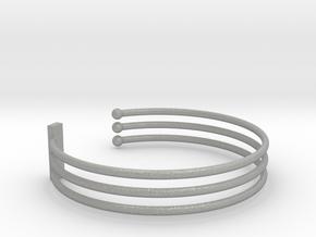 Tripple Bracelet Ø 68 mm/2.677 inch Large in Aluminum