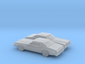 1/160 2X  1974-76 Mercury Cougar in Smooth Fine Detail Plastic