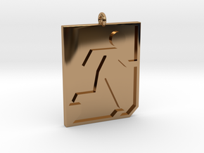 Emergency Exit Pendant in Polished Brass